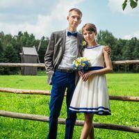 Синий цвет свадьбы, деревенский стиль, кантри