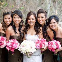 Невеста и подружки в шоколаде