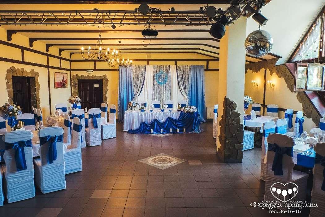 """Оформление зала в синем цвете. Кафе Толстушка - фото 12054914 Агентство торжеств """"Формула Праздника"""""""