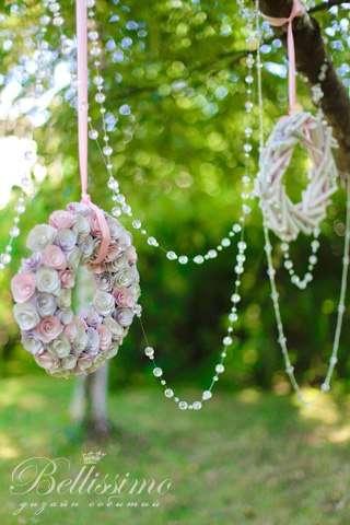 Декоративные венки и нити кристаллов - фото 2443727 Студия оформления торжеств Bellissimo