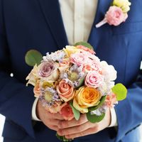 Букет невесты в акварельных тонах