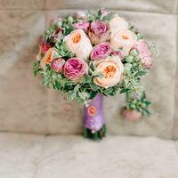 букет в нежно-розовых тонах, волшебное дополнение для невест