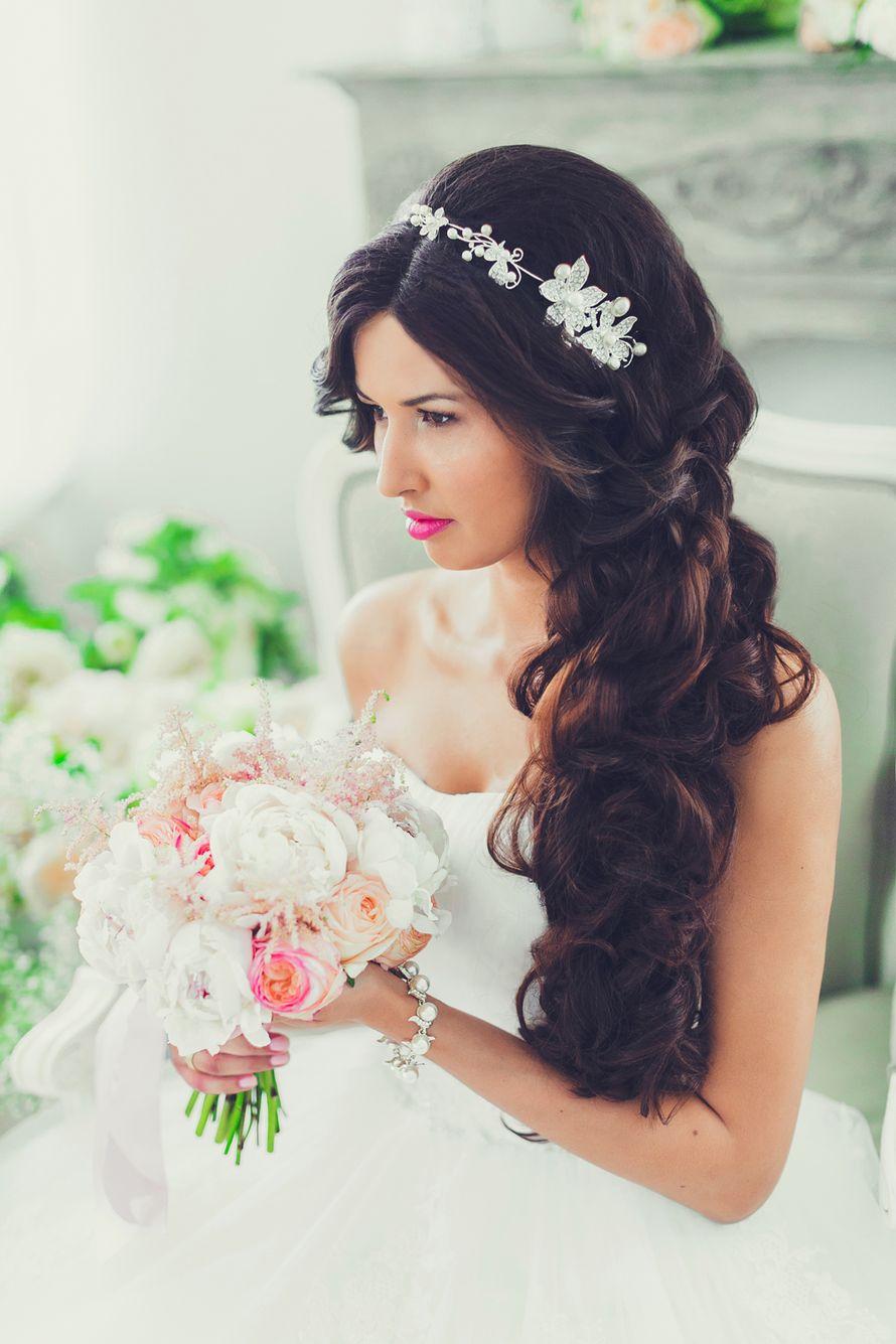 Кружева свадебные прически