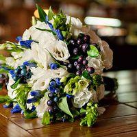 Букет невесты. Черничная свадьба. Blueberry wedding