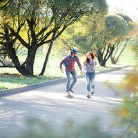 Осень,love story два рыжих апельсина