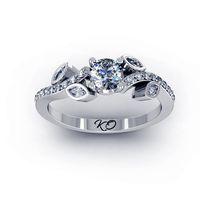 Помолвочное кольцо KotaOsta Золото 585, бриллианты