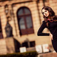 Фотосессия Прага Фотограф в Праге - Фищук Евгений Подружка невесты в черном платье