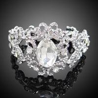 Цена: 503 грн. Праздничный браслет с кристаллами Сваровски белого цвета регулируемой длины. Длина от 17 до 24 см.
