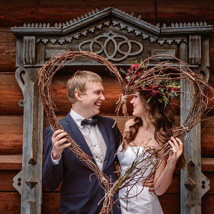 Оформление фотозоны на свадьбу