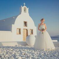 Свадебный образ с острова Санторини