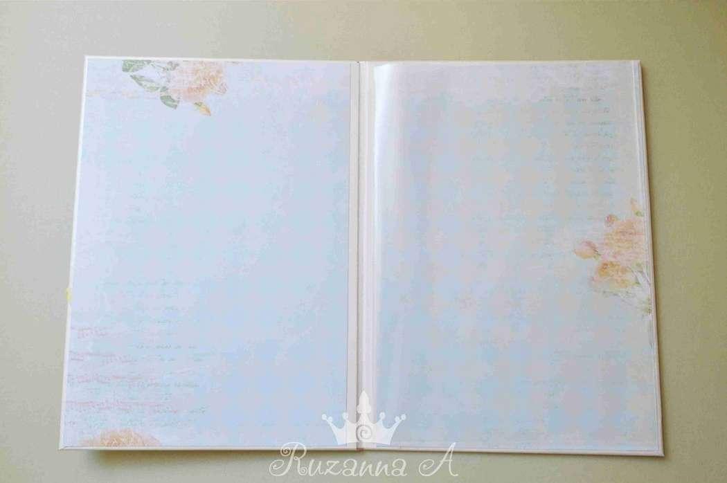 """Папка для свидетельства о браке, формат А4 - фото 5689966 """"Велюр"""" - приглашения, свадебные аксессуары"""