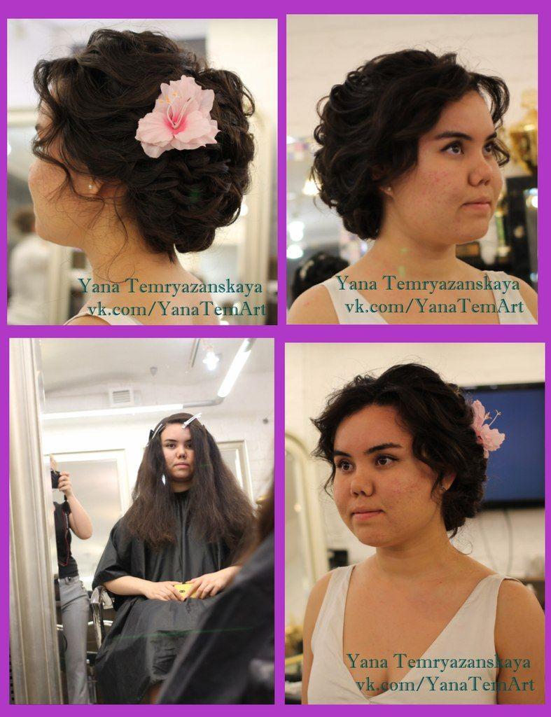 Романтический образ невесты выражен в прическе из длинных локонов собранных в пучок на затылке, украшена розовым цветком - фото 2678709 Невеста01