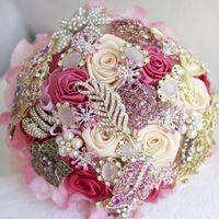 Букет невесты из живых цветов и букеты-дублеры
