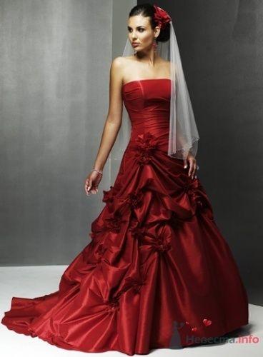 Фото 16285 в коллекции Красное свадебное платье - Невеста01