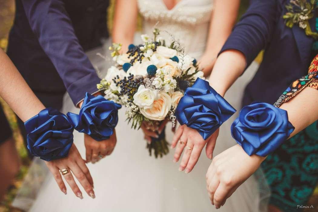 Бутоньерки синие своими руками 99