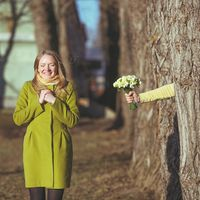 Lovestory весной в зеленых оттенках.