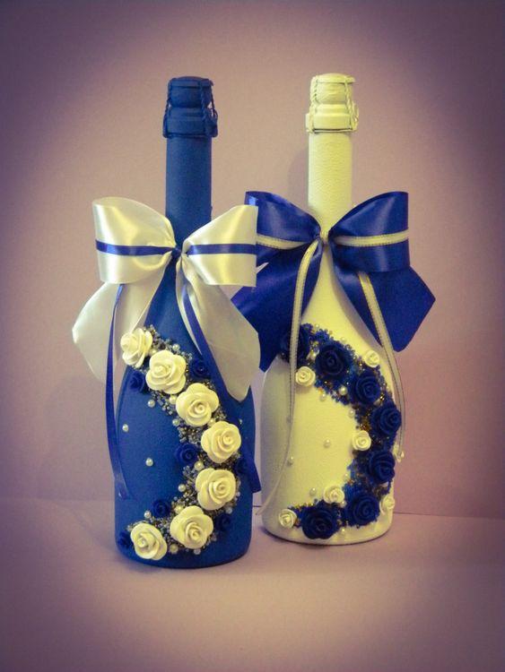 Как сделать красивую бутылку с шампанским