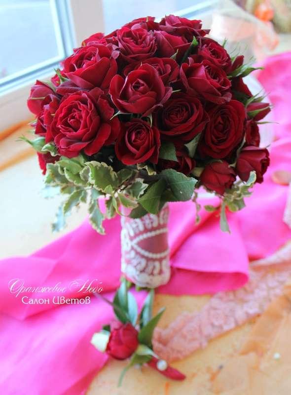 Кустовая роза, питоспорум - фото 2929759 Студия флористики и декора Оранжевое Небо