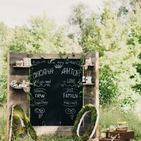 меловая доска - отличная фото-зона на свадьбе!
