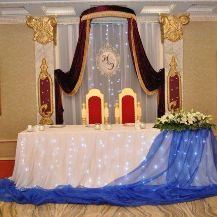 Оформление свадьбы в синих тонах