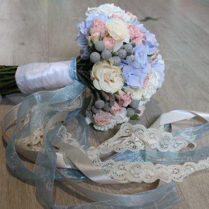 Акварельный букет невесты
