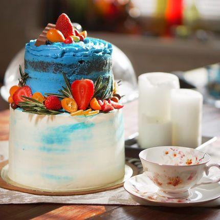 Шоколадно-ванильный торт