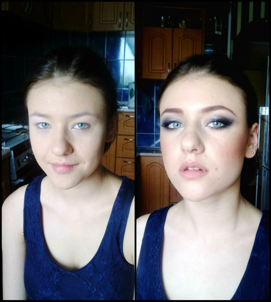 Невеста до и после макияжа. - фото 2907235 Визажист Виктория Вишня