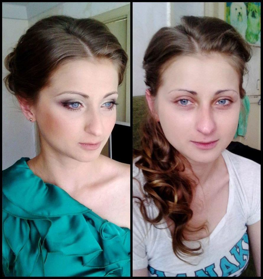 Вечерний вариант макияжа. До и после.  - фото 2907237 Визажист Виктория Вишня