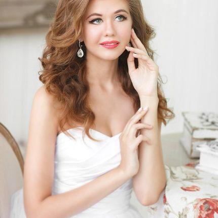 Макияж и прическа для невесты