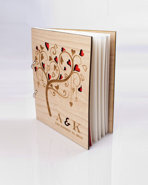Открытка книжка из дерева