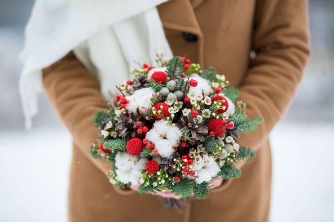 Цветов недорого, свадебный букет мороз