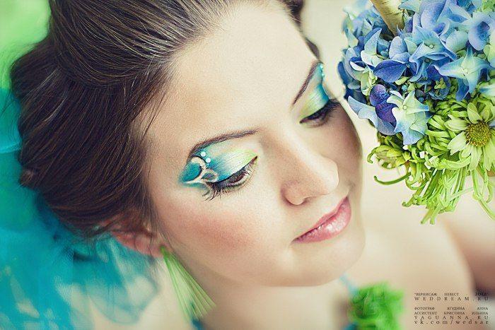 макияж для свадьбы в нежных весенних зелёно-голубых оттенках - фото 2972593 Визажист Людмила Багарян