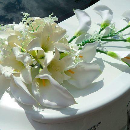 """Аренда комплекта 54 """"Белые каллы с лилиями айвори"""""""