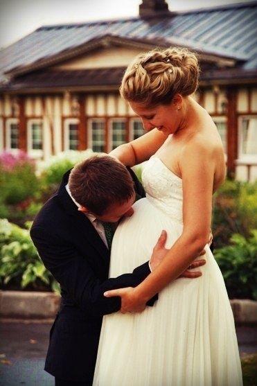 Фото беременные невесты