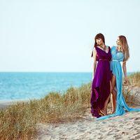 Подружки невесты- фиолетовый и голубой