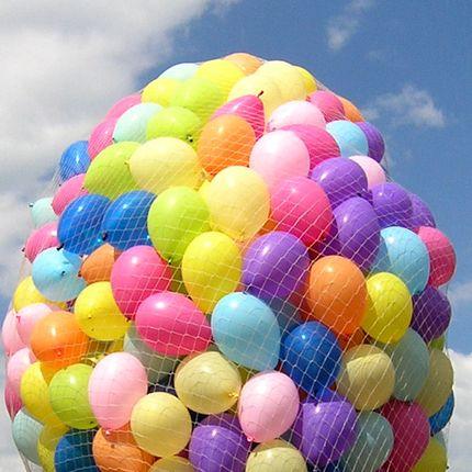 Запуск 300, 500 и 1000 шаров в небо