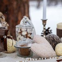 вот такие милые вещицы украсят не только свадьбу, но и  дом во время зимы и новогодних праздиков