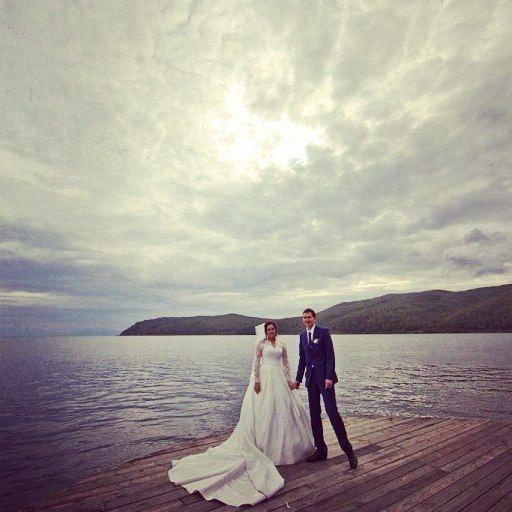 В роскоши шлейфа....Свадебное платье с кружевными рукавами на невесте Кристине! - фото 14892508 Свадебный салон Юлии Савиной
