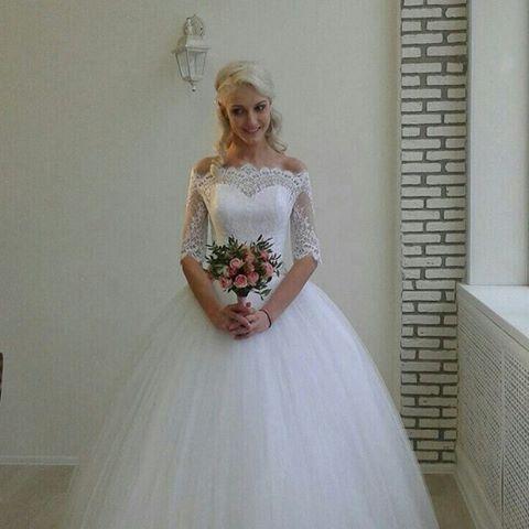 Свадебное платье на невесте Ирине изготовлено на заказ с учетом мерок фигуры. Очень нежное , женственное, воздушное)) - фото 14892746 Свадебный салон Юлии Савиной