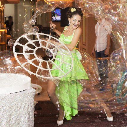 «Лёгкое» шоу мыльных пузырей