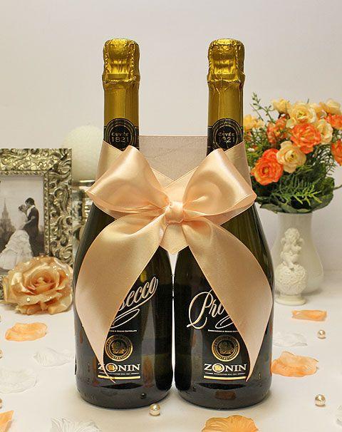 Как сделать украшения на бутылку с шампанским