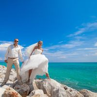 жених и невеста, съемка в Доминикане,  пляж Кап-Кана