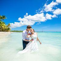 свадьба на острове Саона, Доминикана, любовь, море , поцелуй