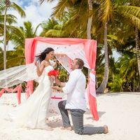 свадьба в Доминикане, невеста и жених, любовь, букет