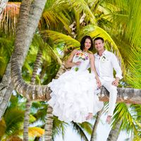 Доминикана, свадьба, любовь , улыбка, счастье , букет, пальма