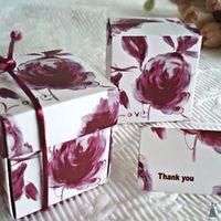 Цветочная бордовая, бонбоньерки