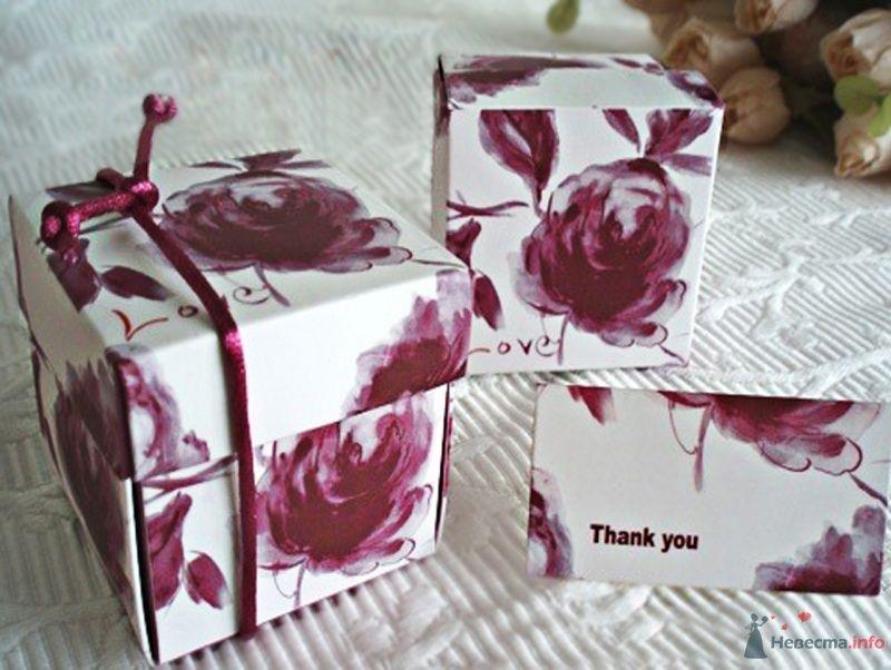 """Цветочная бордовая, бонбоньерки - фото 43583 Студии """"Сакура"""" - свадебные аксессуары"""