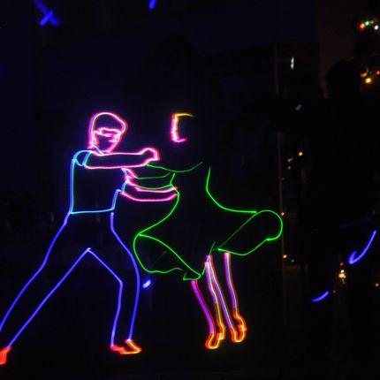 Лазерное шоу, 4-5 минут