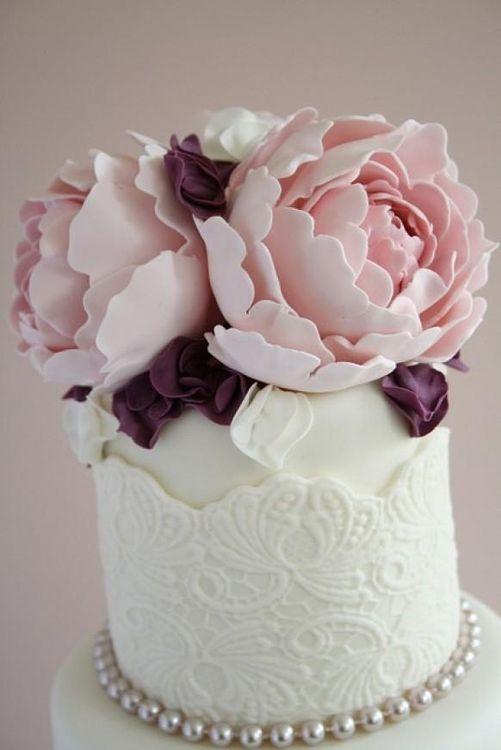 фото цветы пионы торт