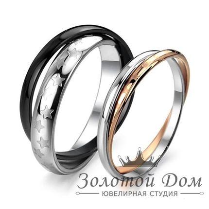 Обручальные кольца двойные